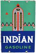 Indian Gasoline (small) Porcelain Sign