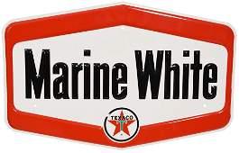 Texaco Marine White Metal Sign