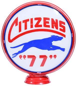 """Citizens """"77"""" w/Leaping Dog 15""""D., Globe Lenses"""