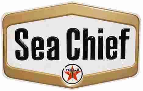 Texaco Sea Chief Metal Sign