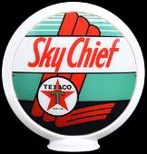 "Texaco (black-T) Sky Chief 13.5""D. Globe Lenses"