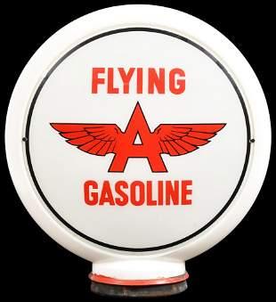 """Flying A Gasoline w/Logo 13.5""""D. Globe Lenses"""