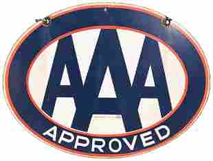 AAA Approved Porcelain Sign