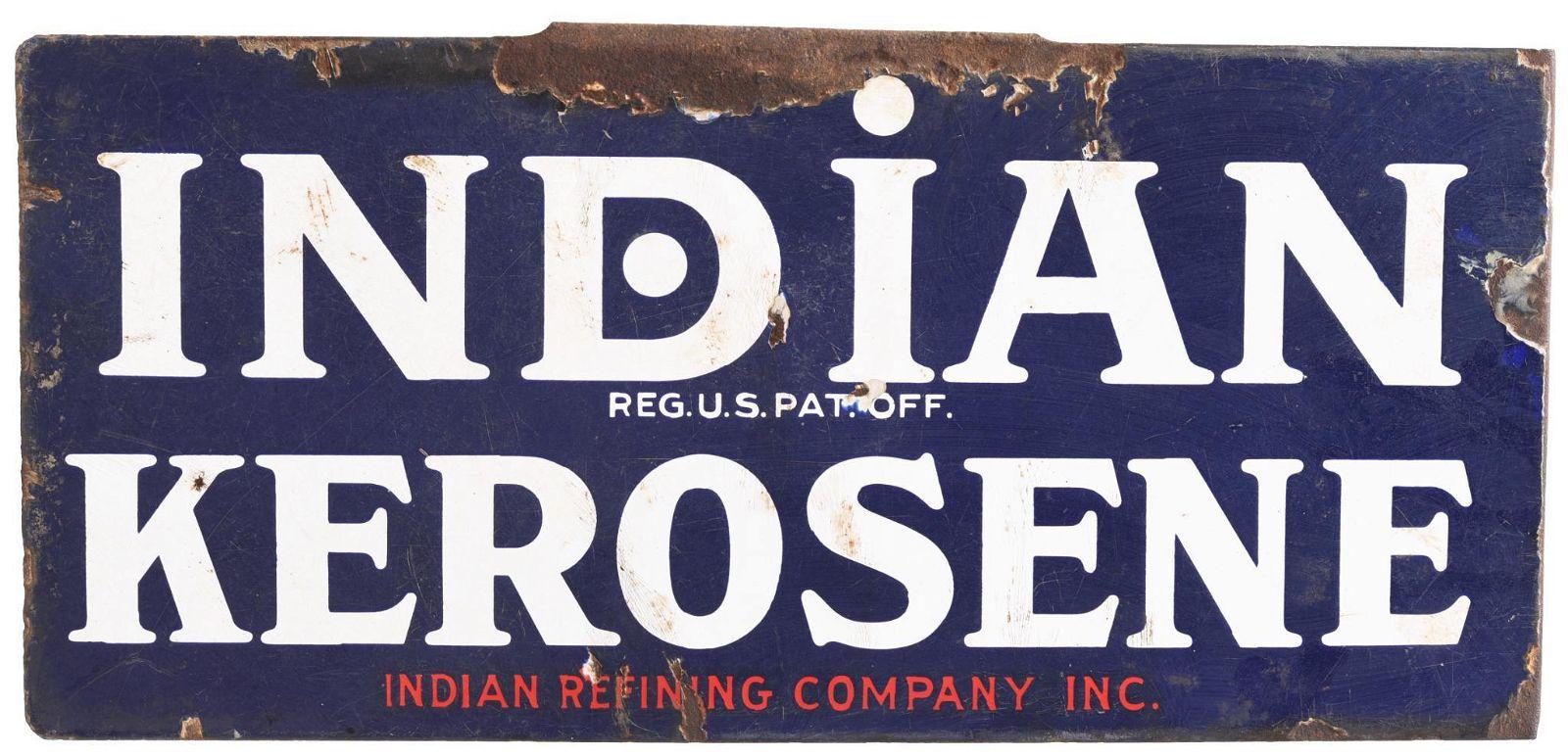 Indian Kerosene Porcelain Sign