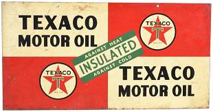 Texaco Motor Oil Insulated Metal Sign
