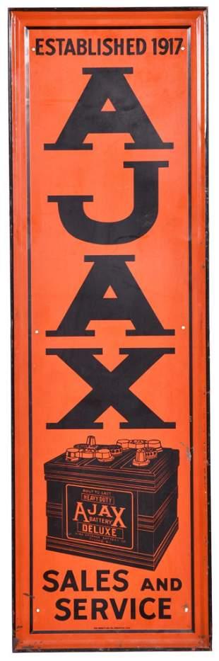 Ajax (Batteries) Sales and Service Metal Sign