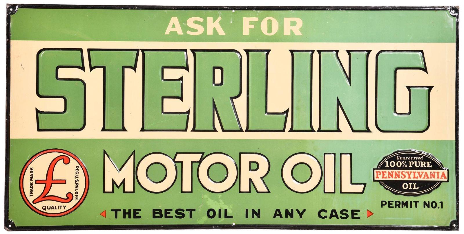 Ask for Sterling Motor Oil Metal Sign