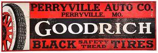 Goodrich Black Safety Tread Tires Metal Sign