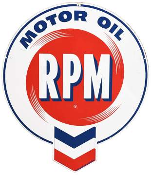 RPM Motor Oil w/Logo Metal Sign