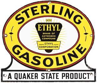 Sterling Gasoline w/Ethyl Logo Quaker State Product