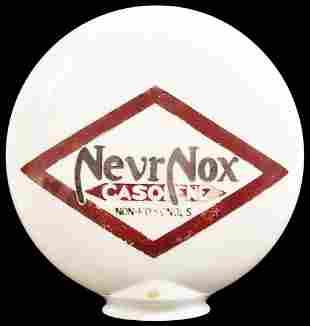 NevrNox Gasolene OPE Milk Glass Globe