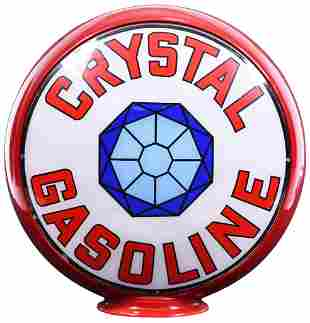 "Crystal Gasoline w/Logo 13.5""D. Single Globe Lens"