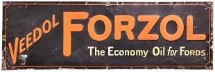 """Veedol Forzol """"The Economy Oil for Fords"""" Metal Sign"""