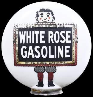 White Rose Gasoline w/Boy & Slate Logo OPB Milk