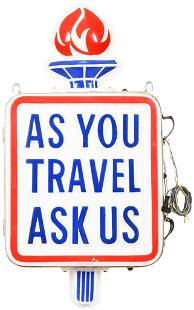(Standard Oil) As You Travel Ask Us Lighted Plastic