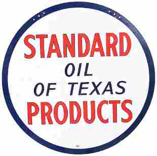 Standard Oil of Texas Products Porcelain Sign