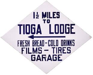 "Tioga Lodge ""Fresh Bread-Cold Drinks-Films-Tires"