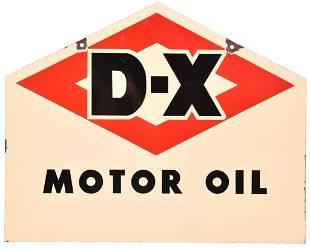 D-X Motor Oil Porcelain Sign