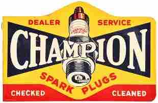 Champion Spark Plugs Dealer Service Metal Sign