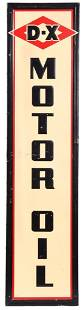 D-X Motor Oil Metal Sign