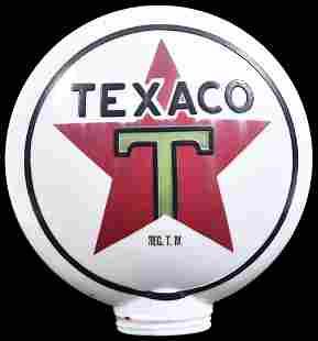 Texaco Star Logo OPC Milk Glass Globe Body