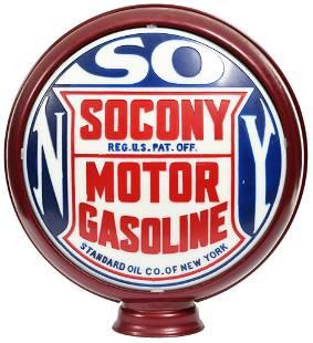 "Socony Motor Gasoline Milk Glass 15""D. Casted Lens"