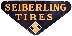Seiberling Tires w/Logo Porcelain Sign