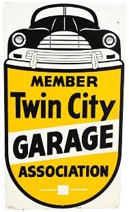 Member Twin City Garage Association w/Logo Metal Sign