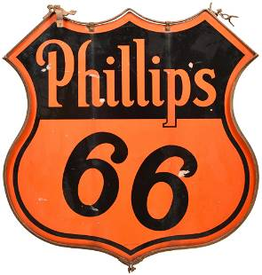 Phillips 66 (black & orange) Porcelain Sign