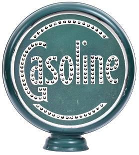 "Gasoline Punched Tin Flat 15""D. Globe Lenses"