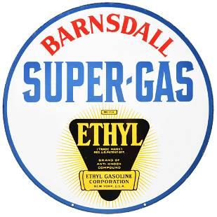 Barnsdall Super-Gas Ethyl Curb Sign