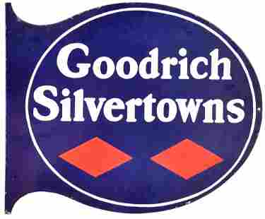 Goodrich Silvertown Porcelain Sign