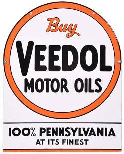 """Buy Veedol Motor Oil """"100% Pennsylvania"""" Porcelain Sign"""