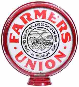 """Nebraska Farmer Union 15""""D., Globe Lenses"""