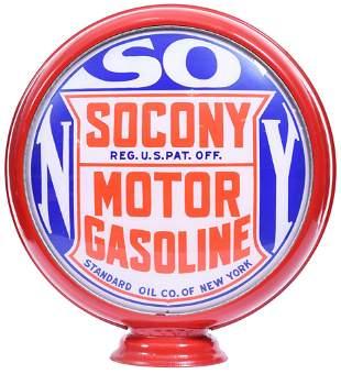 """Socony Motor Gasoline 16.5""""D. Globe Lenses"""
