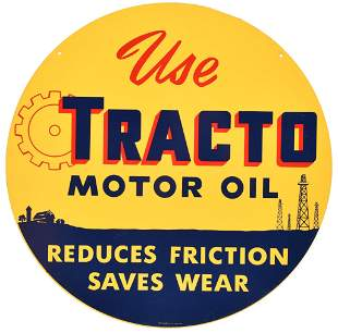 Use Tracto Motor Oil Metal Sign