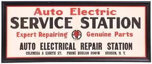 Auto Electric Service Station w/Bosch Logo Framed