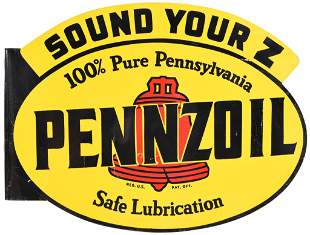 Pennzoil w/Red Bell Sound Your Z Metal Sign