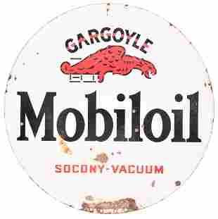 Mobiloil Gargoyle Socony-Vacuum Porcelain Sign