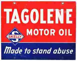 Skelly Tagolene & Uniflo Motor Oil Metal Sign