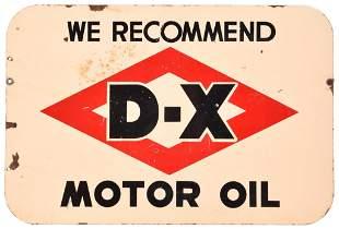 We Recommend D-X Motor Oil Porcelain Sign