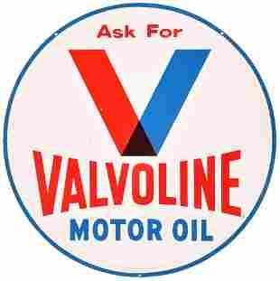 Ask For Valvoline Motor Oil Metal Sign