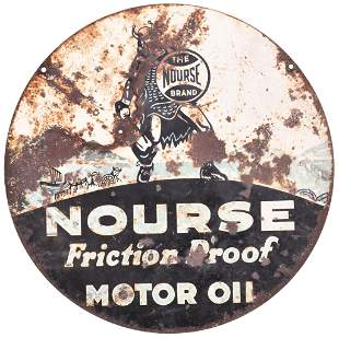 Nourse Friction Proof Motor Oil w/Logo Metal Sign