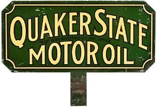 Quaker State Motor Oil Metal Paddle Sign