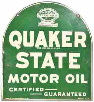 Quaker State Motor Oil w/Logo Metal Sign