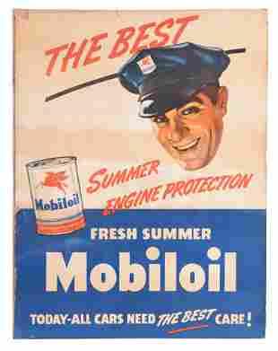 Fresh Summer Mobiloil w/Can & Attendant Graphics