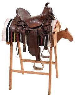 Circa 1920s-40s Saddle