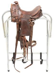 Circa 1860-70s Child's Saddle On Hope Tree