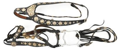 Gold And Silver Mounted Keystone Brothers Bridle With