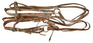 Lot Of 2 U.S. Calvary Bridle/Bit with Reins